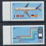 BRD 1367-1368 postfrisch mit Bogenrand links