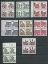 BRD 454-461 postfrisch Viererblocksatz