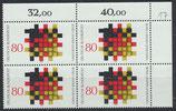 BRD 1194 postfrisch Viererblock mit Eckrand rechts oben