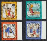BRD 882-885 gestempelt mit Bogenrand rechts