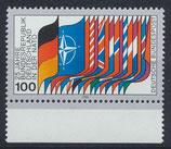 BRD 1034 postfrisch mit Bogenrand unten