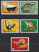 3333-3337 gestempelt (BU-Tiere)