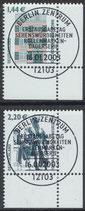 BRD 2306A-2307A gestempelt mit Eckrand rechts unten