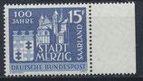 SAAR 401 postfrisch mit Bogenrand rechts