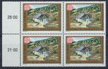 AT 1989 postfrisch Viererblock mit Bogenrand links
