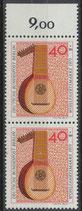 BERL  461 postfrisch senkrechtes Paar mit Bogenrand oben  (RWZ 9,00)