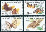 1296-1299 gestempelt (ST-Schmetterlinge)