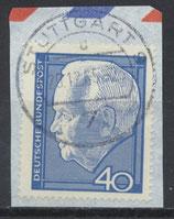BRD 430 gestempelt auf Briefstück