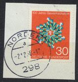 BRD 572 gestempelt auf Briefstück