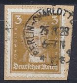 DR 386 gestempelt auf Briefstück