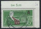 DDR 649 gestempelt mit Eckrand rechts oben (RWZ 5,00)