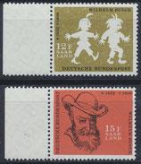 SAAR 429-430 postfrisch mit Bogenrand links