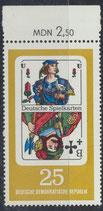 DDR  postfrisch mit Bogenrand oben