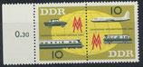 DDR 976-977 postfrisch waagrechtes Paar mit Bogenrand links