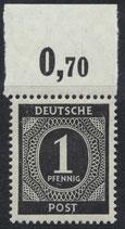 911 postfrisch mit Bogenrand oben (RWZ 0,70) (ABGA)
