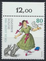 BRD 1726 postfrisch Bogenrand oben (RWZ 12,00)