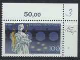 BRD 1655 postfrisch mit Bogenrand rechts oben