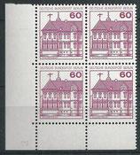 BERL 611 postfrisch Viererblock mit Eckrand links unten