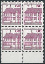 BERL postfrisch Viererblock mit Bogenrand unten