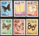 3699-3709 gestempelt (CU-Schmetterlinge)