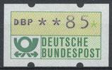 85 (Pf) Automatenmarke 1 postfrisch (BRD-ATM)