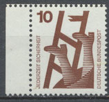 BRD 695 postfrisch Bogenrand links