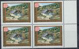 AT 1989 postfrisch Viererblock mit Bogenrand rechts