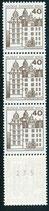 BERL 534  A R postfrisch, 5er Streifen mit rückseitger Nummer -310-