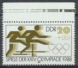 3185 postfrisch Bogenrand oben (DDR)