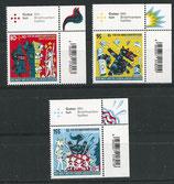 BRD 3522-3524 postfrisch mit Eckrand rechts oben