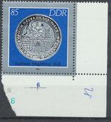 DDR 3043 postfrisch mit Eckrand rechts unten