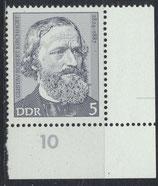 DDR 1941 postfrisch mit Eckrand rechts unten