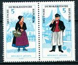 1074-1075 postfrisch Zusammendruck (DDR)