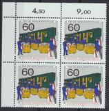 876-878 postfrisch Viererblocksatz Eckrand links oben (RWZ) (BERL)
