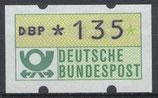 135 (Pf) Automatenmarke 1 postfrisch (BRD-ATM)