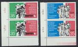DDR 1981-1982 postfrisch senkrechtes Paar mit Eckrand links unten