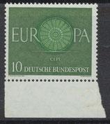 BRD 337 postfrisch mit Bogenrand unten