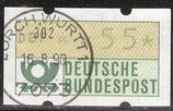 55 (Pf) Automatenmarke 1 gestempelt (BRD-ATM)