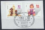 BRD 2260+2262 gestempelt auf Briefstück