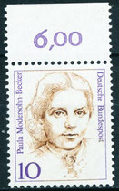 BRD 1359 postfrisch mit Bogenrand oben (RWZ 6,00)