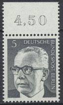 BERL  359 postfrisch Bogenrand oben (RWZ 4,50)