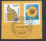 BRD 2299+2434 gestempelt auf Briefstück