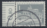 BERL 140y  gestempelt mit Bogenrand links