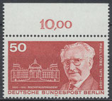 BERL 515 postfrisch Bogenrand oben (RWZ 10,00)