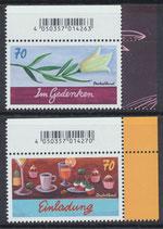 BRD 3305-3306 postfrisch mit Eckrand rechts oben