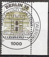 BERL 674 gestempelt mit Eckrand rechts unten