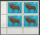 BRD 514 postfrisch Viererblock mit Eckrand links unten