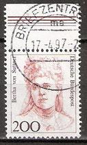1498 gestempelt mit Bogenrand oben aus Kleinbogen (BRD)