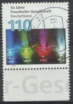 2038 gestempelt mit Bogenrand unten (BRD)