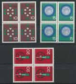 BRD 440-442 postfrisch Viererblöcke